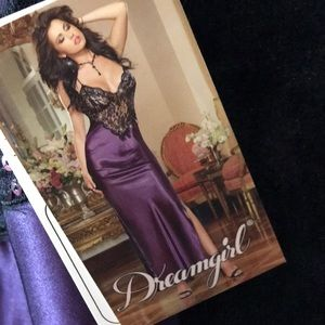 Black and plum lingerie gown